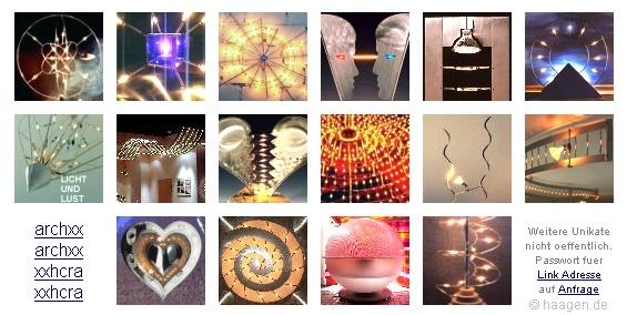 Lichtobjekte und Lichtsysteme von Thomas Haagen >